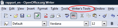 Menu Writers Tools